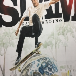 Slam Skateboarding Magazine Cover Painting